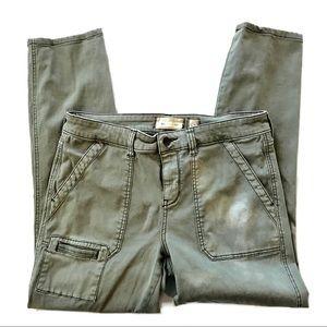 Anthro HeiHei sage green stretch skinny pants